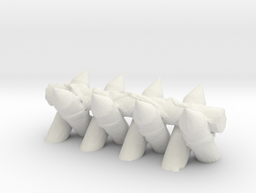 Spiked Barricade 1/72 in White Natural Versatile Plastic