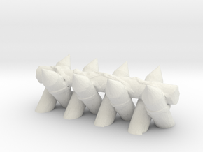 Spiked Barricade 1/64 in White Natural Versatile Plastic