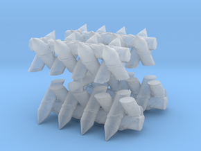 Spiked Barricade (x4) 1/200 in Smooth Fine Detail Plastic