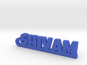 SHIVAM_keychain_Lucky in Blue Processed Versatile Plastic