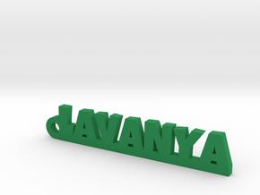 LAVANYA_keychain_Lucky in Green Processed Versatile Plastic