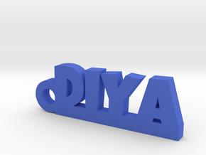DIYA_keychain_Lucky in Blue Processed Versatile Plastic