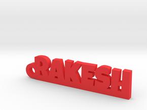 RAKESH_keychain_Lucky in Red Processed Versatile Plastic
