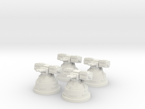 4x Missile Launcher in White Strong & Flexible