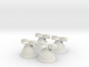 4x Missile Launcher in White Natural Versatile Plastic