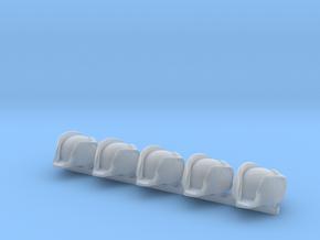 5 x British Navy Bicorne in Smooth Fine Detail Plastic