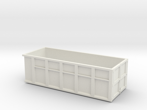 1/50th 10 foot Roll off type Dumpster in White Natural Versatile Plastic