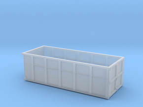 1/87th 10 foot Roll off type Dumpster in Smooth Fine Detail Plastic