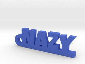 NAZY_keychain_Lucky in Blue Processed Versatile Plastic