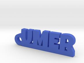 UMER_keychain_Lucky in Blue Processed Versatile Plastic