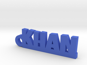 KHAN_keychain_Lucky in Blue Processed Versatile Plastic