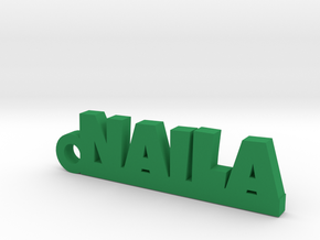 NAILA_keychain_Lucky in Green Processed Versatile Plastic