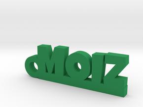 MOIZ_keychain_Lucky in Green Processed Versatile Plastic