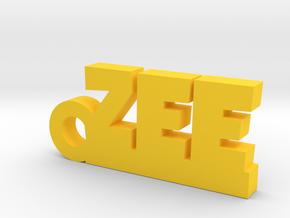 ZEE_keychain_Lucky in Yellow Processed Versatile Plastic