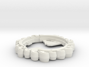 Hydro Ring in White Natural Versatile Plastic