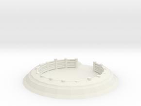 Gun Emplacement 1/43 in White Natural Versatile Plastic
