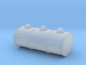 S Scale Three Cell Fuel Tank in Smooth Fine Detail Plastic