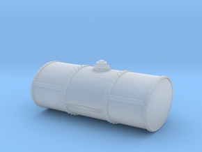 S Scale Singe Cell Fuel Tank (Bottom Drain) in Smooth Fine Detail Plastic