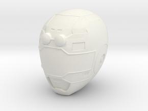 Turbo Blue Helmet LC in White Natural Versatile Plastic