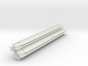 Verbau Eckträger 7.5m Set / shoring rail corner in White Natural Versatile Plastic: 1:50