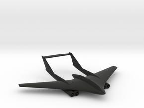 F-209U Martlet Flying-Wing Fighter in Black Natural Versatile Plastic: 1:200