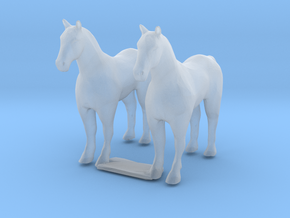 N Scale Horses in Smooth Fine Detail Plastic