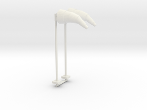 Airport Windsock and Pole (x2) 1/100 in White Natural Versatile Plastic