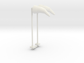 Airport Windsock and Pole (x2) 1/87 in White Natural Versatile Plastic