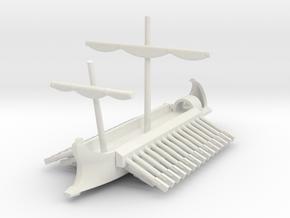 1/700 Full-Hull Roman Trireme in White Natural Versatile Plastic
