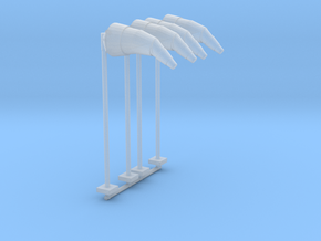 Airport Windsock and Pole (x4) 1/160 in Smooth Fine Detail Plastic