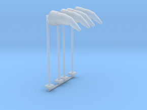 Airport Windsock and Pole (x4) 1/200 in Smooth Fine Detail Plastic
