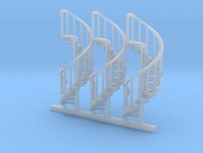 s-100fs-spiral-stairs-market-lh-x3 in Smooth Fine Detail Plastic