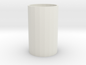 Telescopic spray bottle-cap in White Natural Versatile Plastic: Medium
