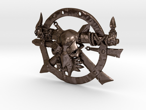 Taurus Emblem in Polished Bronze Steel