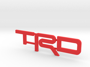 TRD V5 Letter Inserts in Red Processed Versatile Plastic