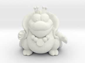 King Wart 42mm monster miniature fantasy games rpg in White Natural Versatile Plastic