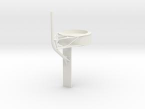 1/72 IJN Akagi Tower upper part for RF in White Natural Versatile Plastic