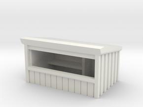Wooden Market Stall 1/64 in White Natural Versatile Plastic