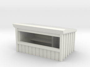 Wooden Market Stall 1/56 in White Natural Versatile Plastic