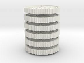 Imperial Coin Objectives in White Natural Versatile Plastic: Small