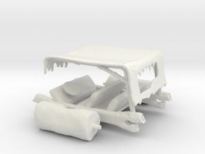 HO Scale Flintstone Car in White Natural Versatile Plastic