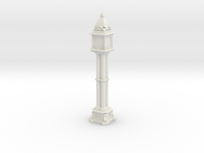 Victorian cast iron clock tower in White Natural Versatile Plastic