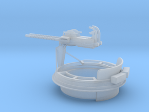 1/32 Scale Mk 17 50 cal Gun Mount in Smooth Fine Detail Plastic