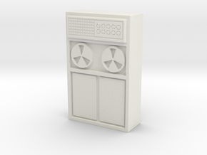 Old Computer Bank 1/48 in White Natural Versatile Plastic