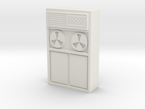 Old Computer Bank 1/43 in White Natural Versatile Plastic