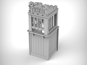 Carnival Ticket Booth 01. 1:24 Scale in White Natural Versatile Plastic