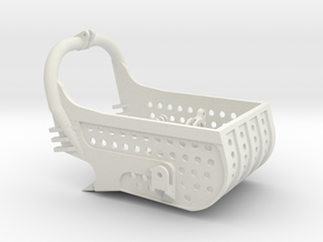 dragline bucket 5cuyd, with holes - scale 1/50 in White Natural Versatile Plastic