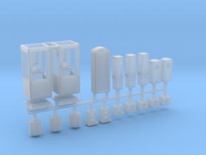 DDR Stadtmöbel Set 5 - 18teilig - 1:120 TT in Smooth Fine Detail Plastic