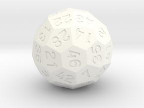d46 Dice [v1] in White Processed Versatile Plastic