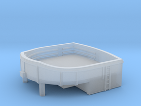 1/350 USN Stern Main Turret 40mm Gun Tub in Smooth Fine Detail Plastic